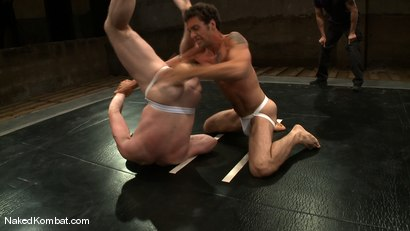 Photo number 4 from Dean Tucker vs DJ<br />The Oil Match shot for Naked Kombat on Kink.com. Featuring Dean Tucker and DJ in hardcore BDSM & Fetish porn.