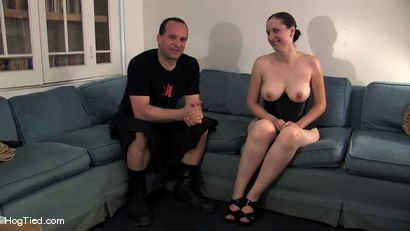 Photo number 2 from Amateur Casting Couch 15:  Hot Weather, Hot Slut, Hot Orgasms shot for Hogtied on Kink.com. Featuring Lady Kat in hardcore BDSM & Fetish porn.