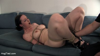 Photo number 14 from Amateur Casting Couch 15:  Hot Weather, Hot Slut, Hot Orgasms shot for Hogtied on Kink.com. Featuring Lady Kat in hardcore BDSM & Fetish porn.