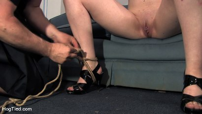Photo number 7 from Amateur Casting Couch 15:  Hot Weather, Hot Slut, Hot Orgasms shot for Hogtied on Kink.com. Featuring Lady Kat in hardcore BDSM & Fetish porn.