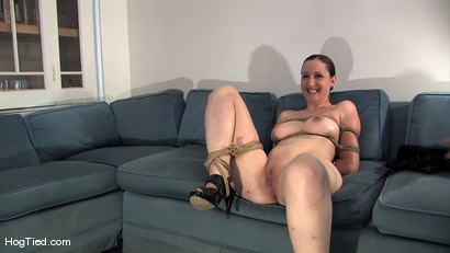 Photo number 8 from Amateur Casting Couch 15:  Hot Weather, Hot Slut, Hot Orgasms shot for Hogtied on Kink.com. Featuring Lady Kat in hardcore BDSM & Fetish porn.
