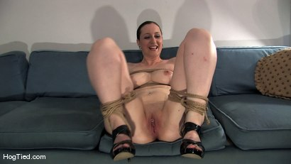 Photo number 9 from Amateur Casting Couch 15:  Hot Weather, Hot Slut, Hot Orgasms shot for Hogtied on Kink.com. Featuring Lady Kat in hardcore BDSM & Fetish porn.