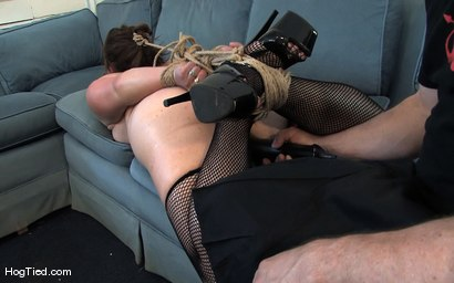 Photo number 9 from Amateur Casting Couch 17: Mina the horny camper shot for Hogtied on Kink.com. Featuring Mina Meow in hardcore BDSM & Fetish porn.