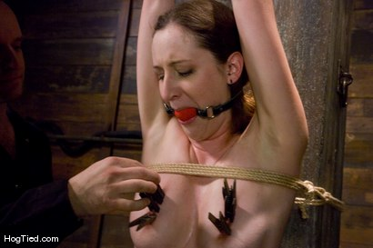 Photo number 6 from Horny slut Lady Kat made to fend off her orgasms, and love it! shot for Hogtied on Kink.com. Featuring Lady Kat in hardcore BDSM & Fetish porn.
