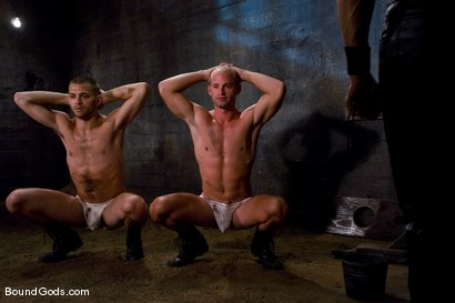 Photo number 1 from Plan B shot for Bound Gods on Kink.com. Featuring Patrick Rouge, Tommy Defendi and Van Darkholme in hardcore BDSM & Fetish porn.