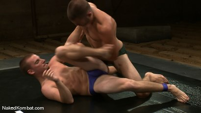 Photo number 3 from Sebastian Keys vs. Tommy Defendi shot for Naked Kombat on Kink.com. Featuring Sebastian Keys and Tommy Defendi in hardcore BDSM & Fetish porn.