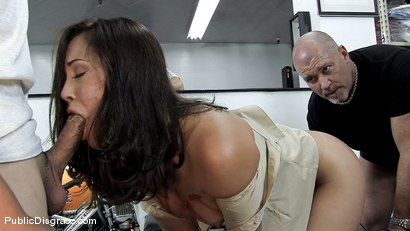 Photo number 4 from Kristina Rose gets her big juicy ass smacked and fucked in public!!!! shot for Public Disgrace on Kink.com. Featuring Kristina Rose and Mark Davis in hardcore BDSM & Fetish porn.