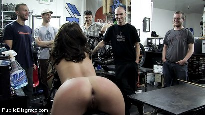 Photo number 14 from Kristina Rose gets her big juicy ass smacked and fucked in public!!!! shot for Public Disgrace on Kink.com. Featuring Kristina Rose and Mark Davis in hardcore BDSM & Fetish porn.