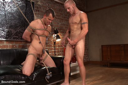 Photo number 11 from The Angry Bondage Toy shot for Bound Gods on Kink.com. Featuring Luke Riley and Chad Manning in hardcore BDSM & Fetish porn.