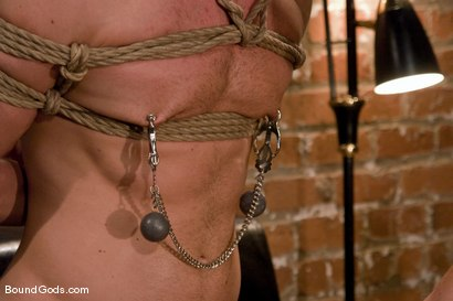 Photo number 10 from The Angry Bondage Toy shot for Bound Gods on Kink.com. Featuring Luke Riley and Chad Manning in hardcore BDSM & Fetish porn.