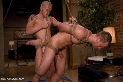 Photo number 14 from The Angry Bondage Toy shot for Bound Gods on Kink.com. Featuring Luke Riley and Chad Manning in hardcore BDSM & Fetish porn.