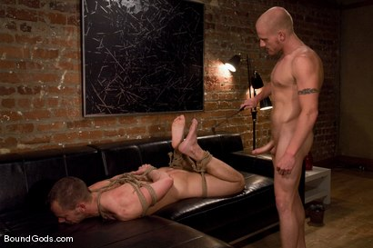 Photo number 9 from The Angry Bondage Toy shot for Bound Gods on Kink.com. Featuring Luke Riley and Chad Manning in hardcore BDSM & Fetish porn.