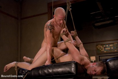 Photo number 12 from The Angry Bondage Toy shot for Bound Gods on Kink.com. Featuring Luke Riley and Chad Manning in hardcore BDSM & Fetish porn.