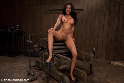 Photo number 15 from Karpri Styles<br>Doing what she was born to do shot for Device Bondage on Kink.com. Featuring Kapri Styles and Maestro in hardcore BDSM & Fetish porn.