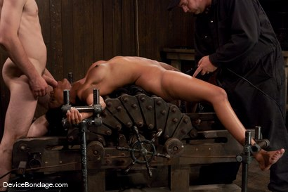 Photo number 12 from Karpri Styles<br>Doing what she was born to do shot for Device Bondage on Kink.com. Featuring Kapri Styles and Maestro in hardcore BDSM & Fetish porn.