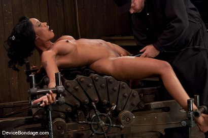 Photo number 4 from Karpri Styles<br>Doing what she was born to do shot for Device Bondage on Kink.com. Featuring Kapri Styles and Maestro in hardcore BDSM & Fetish porn.