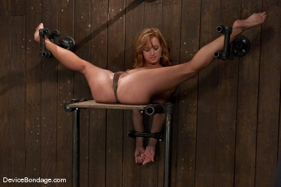 Photo number 4 from Ariel <br> Natural red head, helpless and loving it.<br>-Countdown to Relaunch - 10 of 20 shot for Device Bondage on Kink.com. Featuring Ariel in hardcore BDSM & Fetish porn.