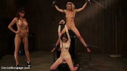 Photo number 2 from Mason, Winter Sky and Christina <br>Part 4 of 4 of the July Live Feed shot for Device Bondage on Kink.com. Featuring Christina Carter, Mason and Winter Sky in hardcore BDSM & Fetish porn.