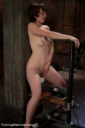 Photo number 13 from AMATEUR GIRL FRIDAYS - CLAUDIA shot for Fucking Machines on Kink.com. Featuring Claudia LeNoir in hardcore BDSM & Fetish porn.