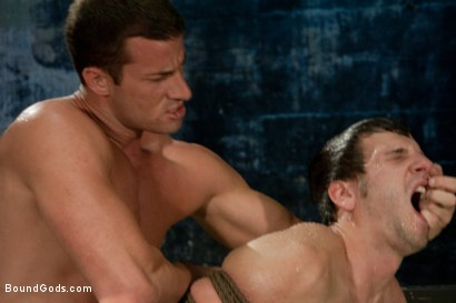 Photo number 13 from Lab Rat Revenge shot for Bound Gods on Kink.com. Featuring Rusty Stevens and Derrek Diamond in hardcore BDSM & Fetish porn.