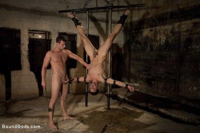 Photo number 6 from Lab Rat Revenge shot for Bound Gods on Kink.com. Featuring Rusty Stevens and Derrek Diamond in hardcore BDSM & Fetish porn.