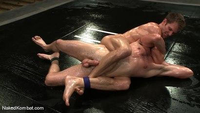 Photo number 9 from Shane Erickson vs Kyle Sparks<br />The Oil Match shot for Naked Kombat on Kink.com. Featuring Shane Erickson and Kyle Sparks in hardcore BDSM & Fetish porn.