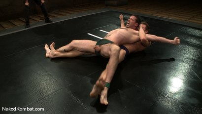 Photo number 2 from Shane Erickson vs Kyle Sparks<br />The Oil Match shot for Naked Kombat on Kink.com. Featuring Shane Erickson and Kyle Sparks in hardcore BDSM & Fetish porn.