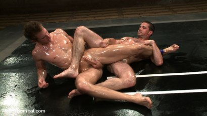 Photo number 7 from Shane Erickson vs Kyle Sparks<br />The Oil Match shot for Naked Kombat on Kink.com. Featuring Shane Erickson and Kyle Sparks in hardcore BDSM & Fetish porn.