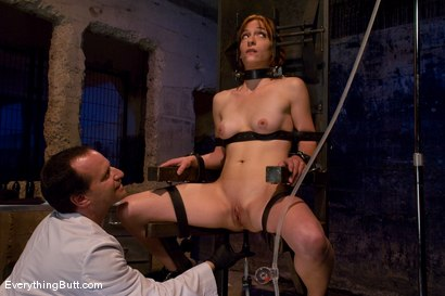 Photo number 13 from Anal Audition: Hot firey redhead doused with a gallon enema! shot for Everything Butt on Kink.com. Featuring Renee Broadway in hardcore BDSM & Fetish porn.