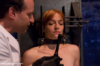 Photo number 5 from Anal Audition: Hot firey redhead doused with a gallon enema! shot for Everything Butt on Kink.com. Featuring Renee Broadway in hardcore BDSM & Fetish porn.
