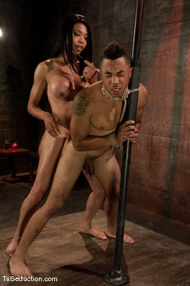 Photo number 11 from Ts Alyssa Hung <br> just another night out, another dance floor, another cheating guy shot for TS Seduction on Kink.com. Featuring TS Alyssa Hung and Antho in hardcore BDSM & Fetish porn.