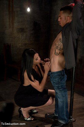 Photo number 3 from Ts Alyssa Hung <br> just another night out, another dance floor, another cheating guy shot for TS Seduction on Kink.com. Featuring TS Alyssa Hung and Antho in hardcore BDSM & Fetish porn.