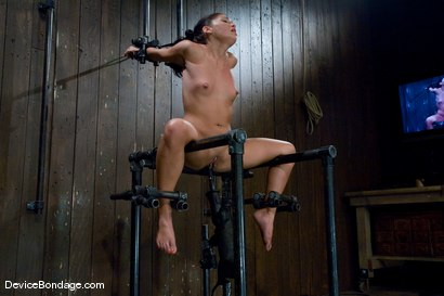 Photo number 9 from Jade Indica <br> How fast can a Fucking Machine fuck? shot for Device Bondage on Kink.com. Featuring Miss Jade Indica in hardcore BDSM & Fetish porn.
