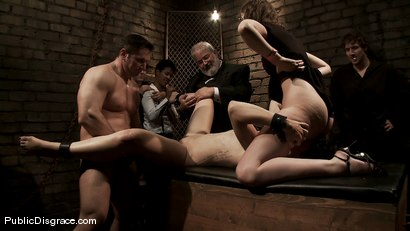 Photo number 14 from Dylan and John Strong shot for Public Disgrace on Kink.com. Featuring John Strong and Dylan Ryan in hardcore BDSM & Fetish porn.