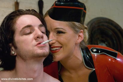 Photo number 2 from The Training of a Houseboy: Episode 1 shot for Divine Bitches on Kink.com. Featuring Dia Zerva, Kade and Maitresse Madeline Marlowe in hardcore BDSM & Fetish porn.
