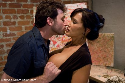 Photo number 3 from MILF Submission: episode 2  Lisa Ann shot for Sex And Submission on Kink.com. Featuring James Deen and Lisa Ann in hardcore BDSM & Fetish porn.