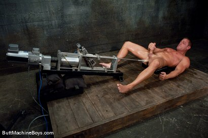 Photo number 10 from Tyler Saint Gets Annihilated. shot for Butt Machine Boys on Kink.com. Featuring Tyler Saint in hardcore BDSM & Fetish porn.