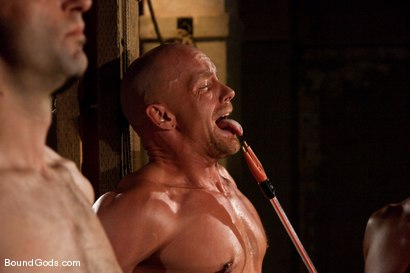 Photo number 10 from Downsizing shot for Bound Gods on Kink.com. Featuring Chad Rock, Spencer Reed, Jason Miller and Van Darkholme in hardcore BDSM & Fetish porn.