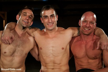 Photo number 15 from Downsizing shot for Bound Gods on Kink.com. Featuring Chad Rock, Spencer Reed, Jason Miller and Van Darkholme in hardcore BDSM & Fetish porn.