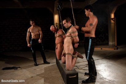 Photo number 4 from Downsizing shot for Bound Gods on Kink.com. Featuring Chad Rock, Spencer Reed, Jason Miller and Van Darkholme in hardcore BDSM & Fetish porn.