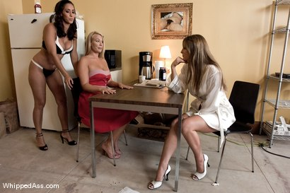 Photo number 2 from Solicitor Slut shot for Whipped Ass on Kink.com. Featuring Isis Love, Harmony and Mellanie Monroe in hardcore BDSM & Fetish porn.