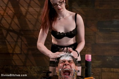 Photo number 7 from The Gift shot for Divine Bitches on Kink.com. Featuring Claire Adams and Orlando in hardcore BDSM & Fetish porn.