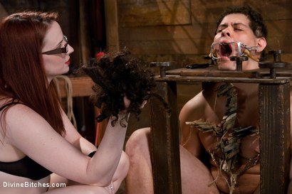 Photo number 14 from The Gift shot for Divine Bitches on Kink.com. Featuring Claire Adams and Orlando in hardcore BDSM & Fetish porn.