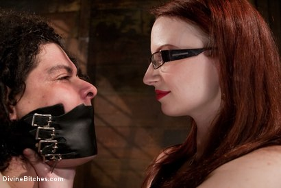 Photo number 4 from The Gift shot for Divine Bitches on Kink.com. Featuring Claire Adams and Orlando in hardcore BDSM & Fetish porn.