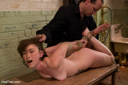 Photo number 3 from Fresh from the Amateur Casting Couch, Claudia LeNoir shot for Hogtied on Kink.com. Featuring Claudia LeNoir in hardcore BDSM & Fetish porn.