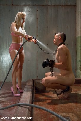 Photo number 2 from The Training of a Hellhound: Episode 1 shot for Divine Bitches on Kink.com. Featuring Derrick P. and Ashley Fires in hardcore BDSM & Fetish porn.