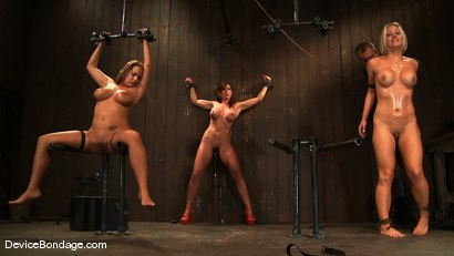 Photo number 10 from Trina Michaels, Holly Heart and Christina Carter<br> Part 4 of 4 of the August Live Feed shot for Device Bondage on Kink.com. Featuring Christina Carter, Trina Michaels and Holly Heart in hardcore BDSM & Fetish porn.