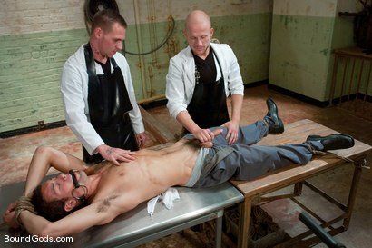 Photo number 1 from The Slaughterhouse: Part 2   Fun in the Slaughterhouse shot for Bound Gods on Kink.com. Featuring Luke Riley, Jesse Alan and DJ in hardcore BDSM & Fetish porn.