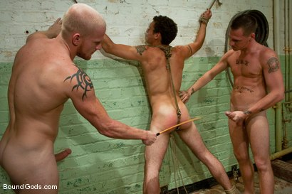 Photo number 9 from The Slaughterhouse: Part 2   Fun in the Slaughterhouse shot for Bound Gods on Kink.com. Featuring Luke Riley, Jesse Alan and DJ in hardcore BDSM & Fetish porn.