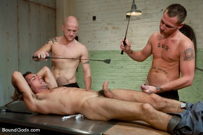 Photo number 3 from The Slaughterhouse: Part 2 <br />Fun in the Slaughterhouse shot for Bound Gods on Kink.com. Featuring Luke Riley, Jesse Alan and DJ in hardcore BDSM & Fetish porn.